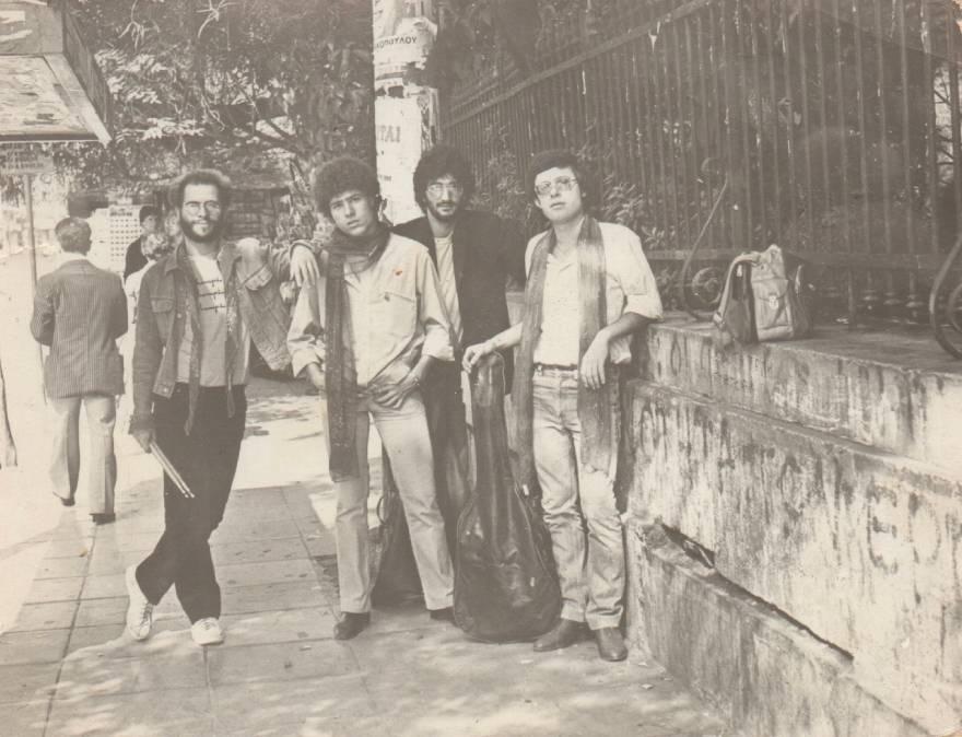 Από αριστερά: Ανδρέας Αργυρόπουλος, Γιάννης Μεγάλης, Βασίλης Καζούλλης, Λευτέρης Χρυσός
